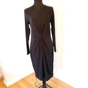 Black rouched dress size L